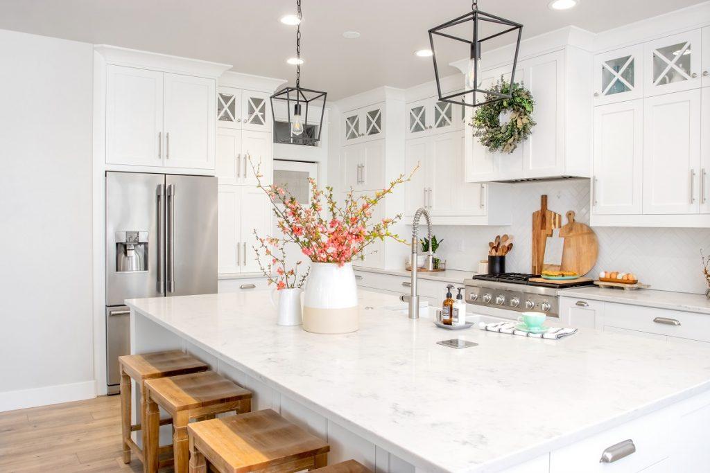 marmurowe spieki w kuchni