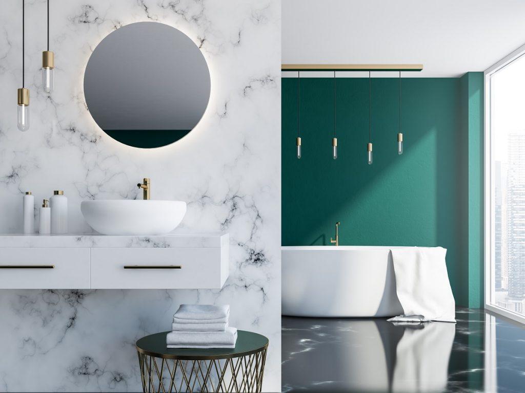 nowoczesne płytki w łazience